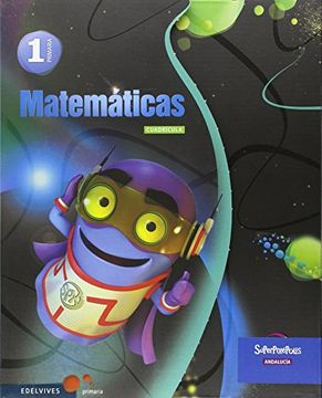 portada Matematicas 1º Primaria Cuadricula- Andalucia (Superpixépolis)