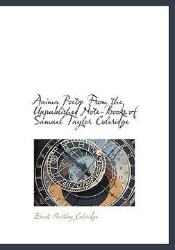 portada anima poet from the unpublished note-books of samuel taylor coleridge
