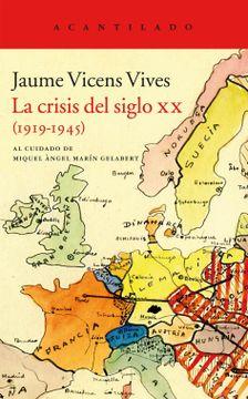 portada La Crisis del Siglo xx, 1919-1945