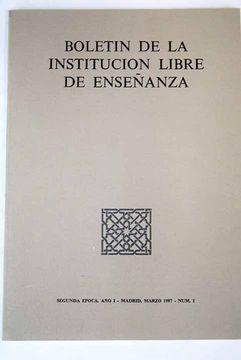 portada Boletín de la Institución Libre de Enseñanza, Número 1, Marzo 1987