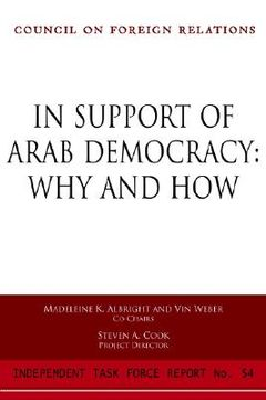 portada in support of arab democracy: why and how: report of an independent task force