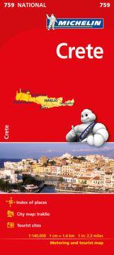 portada Crete - Michelin National map 759 (Michelin National Maps) (libro en inglés)