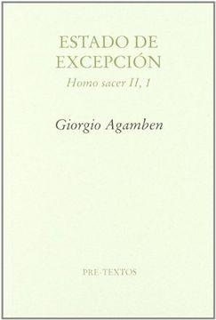 portada Estado de Excepción: Homo Sacer ii, 1