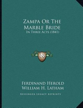 portada zampa or the marble bride: in three acts (1841)