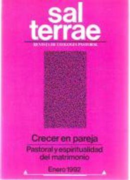 portada Sal Terrae, Revista De Teología Pastoral. Enero 1992. Tomo 80 / 1 (N. 942)