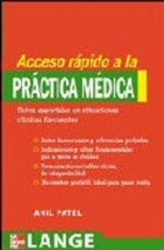 portada Acceso Rapido A La Practica Medica. Datos Esenciales En Situaciones Clinicas Frecuentes