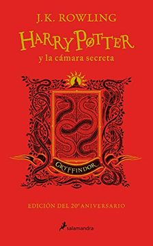 portada Harry Potter y la Cámara Secreta (Edición Gryffindor del 20º Aniversario) (Harry Potter 2): Rojo