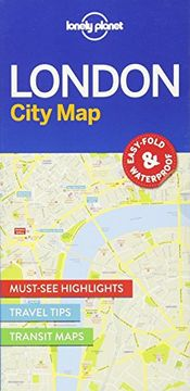portada Lonely Planet London City Map (Travel Guide)