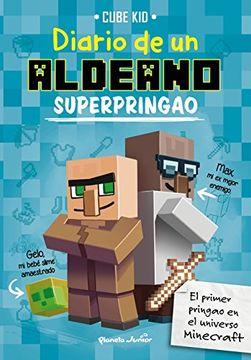 portada Diario de un Aldeano Superdesafortunado. Minecraft