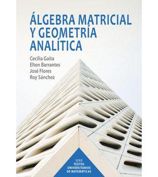 portada Álgebra matricial y geometría analítica