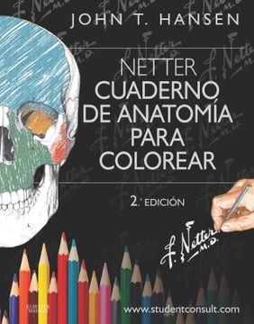 portada Cuaderno de Anatomía Para Colorear + Studentconsult: Netter