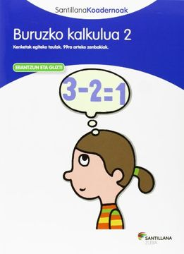 portada Buruzko Kalkulua 2 Santillana Koadernoak (libro en Euskera)