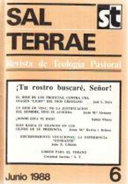 portada Sal Terrae (Revista De Teología Pastoral), 6. Junio 1988