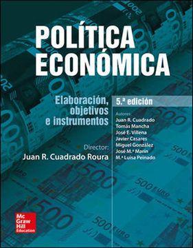 portada Política Económica: Elaboración, Objetivos e Instrumentos