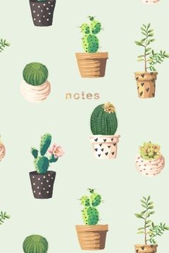 portada Cactus Notebook: 175-Page Cactus Design Notebook: 6x9 Alternating Blank and Ruled Cactus Notebook (Cactus Notebooks) (Volume 1) (libro en inglés)