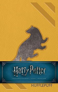 portada Harry Potter: Hufflepuff Hardcover Ruled Journal (libro en Inglés)