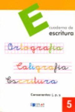 portada ESCRITURA 5 - Consonantes: j, p, y