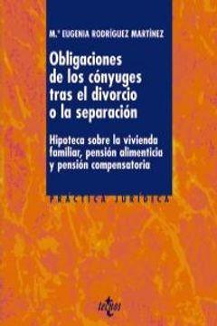 portada Obligaciones De Los Conyuges Tras El Divorcio O Se