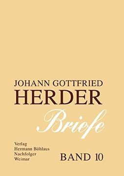 portada Johann Gottfried Herder. Briefe.  Zehnter Band: Register: 10 (J. Go Herder. (libro en Alemán)