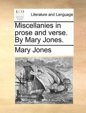 portada Miscellanies in Prose and Verse. By Mary Jones. (libro en inglés)