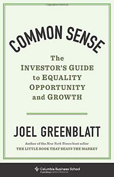 portada Common Sense: The Investor's Guide to Equality, Opportunity, and Growth (libro en Inglés)