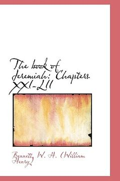 portada the book of jeremiah: chapters xxi-lii