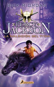 portada Percy Jackson y Los Dioses del Olimpo. 3 la Maldición del Titán.