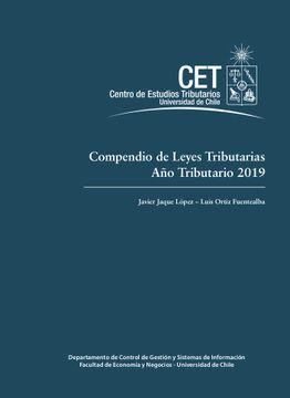 portada Compendio De Leyes Tributarias.  Año Tributario 2019