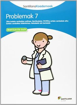 portada Problemak 7 Santillana Koadernoak - 9788498943313 (libro en Euskera)
