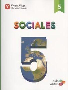 portada SOCIALES 5 + CASTILLA Y LEON SEP (AULA ACTIVA): Sociales 5. L. Alumno Y Separata Castilla Y León. Aula Activa: 000002