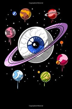 portada Psychedelic Notebook: Psychedelic Space eye Trippy Cosmic Planets Notebook (libro en Inglés)