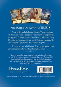 portada Mensajes de Amor de Jesus: 44 Cartas Oraculo de Inspiracion