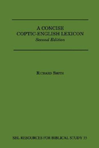 a concise coptic-english lexicon